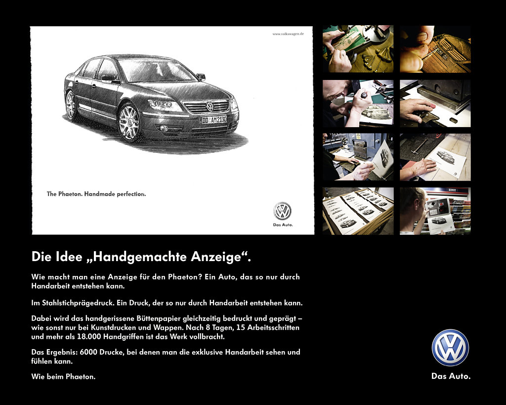 VW Phaeton - Special handmade Ad